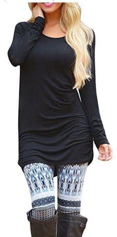 2c71d89cff37b7 Women s Long Sleeve T Shirt Dress Tunic Top