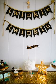 Black and Gold Twinkle Twinkle Little Star Party