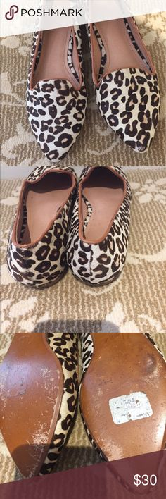 joie leopard print flats Super cute and in excellent condition joie flats Joie Shoes Flats & Loafers