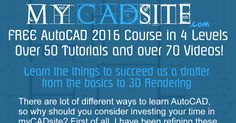 Start learning AutoCAD TODAY!  This is the first of over 50 free tutorials - complete with videos and quizzes.
