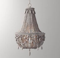 Anselme Large Chandelier Silver Grey