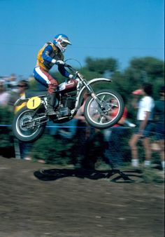 """Heikki Mikkola, the """"Flyin' Finn"""" was one of the most popular and feared motocross racers of the 1970s. During his illustrious career, Mikkola collected four World Grand Prix Motocross Championship titles. In 1974 he won the World Grand Prix 500cc Championship on a Husqvarna.  The bike that got American motocross off the ground– the 1963 Husqvarna (Husky) Racer."""