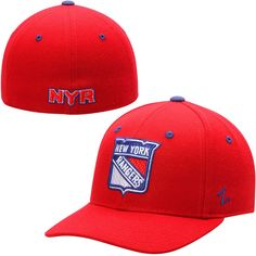 new styles c1b77 8b6b8 New York Rangers Zephyr Crosscheck Fitted Hat - Red. NHL Caps   Hats