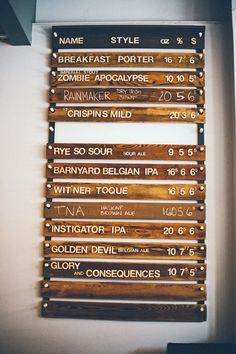 The beer list at Indie Ale House, The Junction, Toronto #Canada