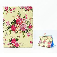 Exquisite Flower Leather Case Cover with Stand for iPad Air 2, iPad mini 3