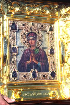 """Myrrh-streaming Icon of the Most Holy Mother of God """"Softener of Evil Hearts"""", Moscow"""