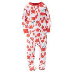 eccf17001 1-Piece Snug Fit Cotton PJs Baby Boy Pajamas, Carters Baby Boys, Baby