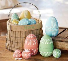 Paper Mache Eggs | Pottery Barn