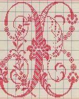 le monde de zabou grille gratuite lettre m monogrammes points de croix broderies pinterest. Black Bedroom Furniture Sets. Home Design Ideas