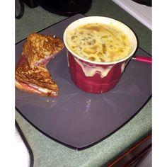 Soup salami sandwich (&& Seinfeld) #heaven #alliteration #glutenfreelife by _jaycee2
