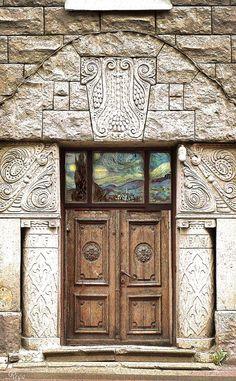 Riga, Latvia wood door