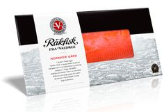 Rakfisk- Fermented Salmon Smoked Trout, Smoked Fish, Smoked Salmon, Food Packaging, Packaging Design, Chocolate Brands, Fish And Meat, Raw Food Recipes, Packing