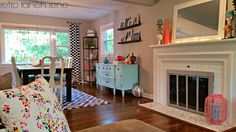 Retro Ranch Reno | Bright and colorful great room | Open living and dining room