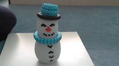 How to make 3d origami Snowman                                                                                                                                                                                 Más
