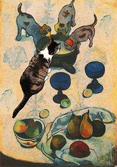 Paul Gauguin's Cat Greeting Cards, 5 X 7 Inch Blank Notecards By Deborah Julian Art Deborah Julian Art http://www.amazon.com/dp/B012OR2IMY/ref=cm_sw_r_pi_dp_.o4Tvb1836APP