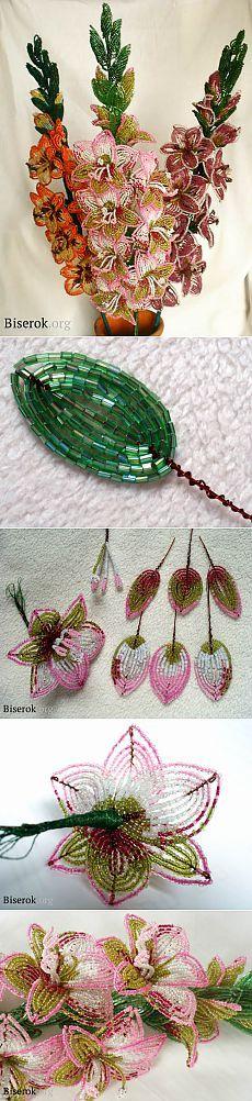 Гладиолус из бисера / Цветы / Biserok.org