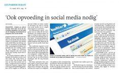 Artikel Leeuwarder Courant over Liudger Opvoeddebat waar Thijs van de Reep van Social Media Wijs sprak over Sociale Media & Opvoeding  Dd. 14-3-2012