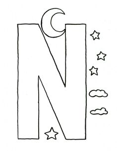 Printable Alphabet Letter M Template! Great for kid crafts