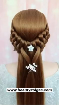 Pretty Braided Hairstyles, Easy Hairstyles For Long Hair, Braids For Long Hair, Up Hairstyles, Wedding Hairstyles, Hairstyle Short, School Hairstyles, Hair Updo, Hairdos