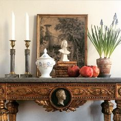 Swedish vignette with elegant 18th century Gustavian console table - Erik Bilen
