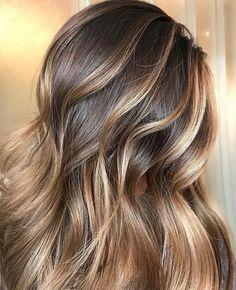 Caramel bayalage on dark brunette base @stephanie_stylist