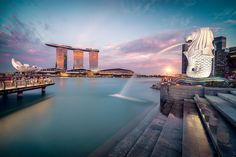 A Long Exposure of the most Iconic scene if Singapore. Exposure Photography, Nature Photography, Beautiful Sites, Long Exposure, Southeast Asia, Marina Bay Sands, High Quality Images, Adventure Travel, Scene
