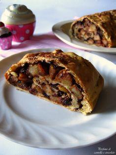 Profumo di cannella e cioccolato: Strudel pere, cioccolato e zenzero con pasta matta