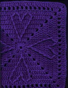 Cable Hearts Square - YarnCrazy Crochet World - Chris Simon's crochet patterns - free