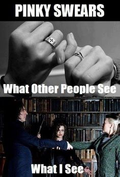 Funny pictures about Unbreakable Vow. Oh, and cool pics about Unbreakable Vow. Also, Unbreakable Vow. Harry Potter World, Magia Harry Potter, Mundo Harry Potter, Harry Potter Puns, Memes Humor, Funny Memes, Hilarious, Funny Pics, Funny Pictures