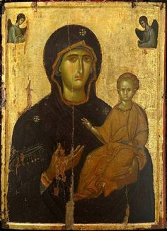 Classic icon of the Virgin Mary Byzantine Art, Byzantine Icons, Religious Icons, Religious Art, Madonna, Russian Icons, High Art, Orthodox Icons, Blessed Mother