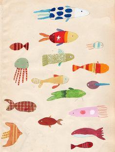 Рыбы и морские млекопитающие - запись пользователя mamochka81 (Ксения Корнева) в сообществе Декупаж в категории Картинки для декупажа