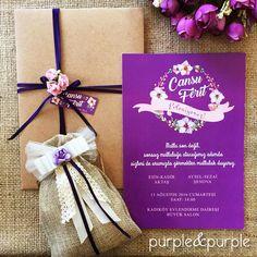 2016 Düğün Davetiye Modelleri   Purple & Purple