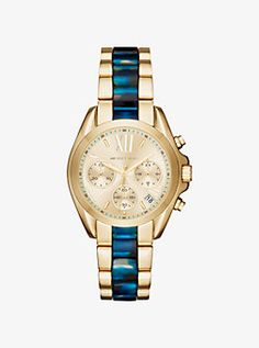 20d9f9b84144 Bradshaw Gold-Tone and Acetate Watch by Michael Kors Michael Kors Jewelry