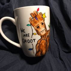 We are Groot I Cup, Mugs, Tableware, Christmas, Handmade, Xmas, Dinnerware, Hand Made, Tumblers