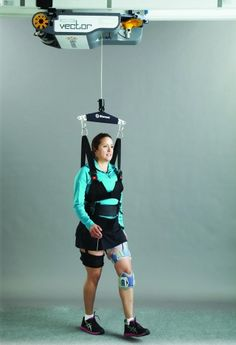 Rehabilitation system dangles patients below a robot. This will certainly speed up rehab time and could be installed at home for comfortable daily use. Technology World, Medical Technology, Science And Technology, Technology Careers, Technology Articles, Energy Technology, Technology Gadgets, Medical Laboratory, Medical Science
