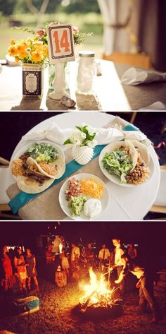 country wedding: great details and mexican food!