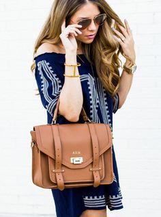 GiGi New York | Saddle Hayden Satchel | The Teacher Diva Fashion Blog
