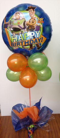 Decoración con globos Toy Story