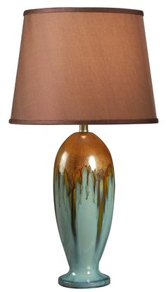 """Magnolia 32"""" H Table Lamp with Empire Shade"""