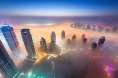 Daniel Cheong - Dubai covered in fog looks like a city from a sci-fi movie