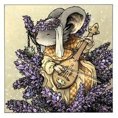 """Lavender"" ... Mouse Guard .... by David Petersen Art"