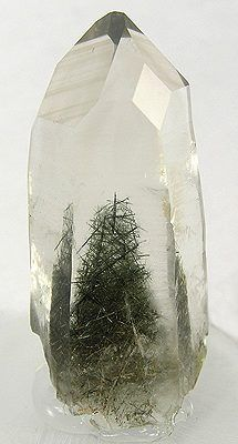 Quartz with actinolite inclusions