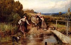 The Ford by Myles Birket Foster
