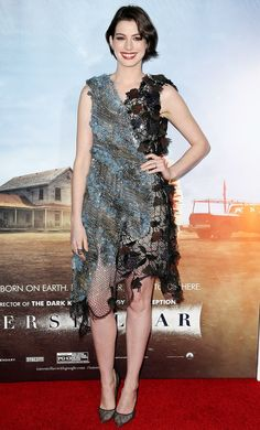Anne Hathaway Wearing Rodarte at Interstellar Premiere in New York