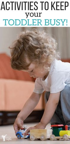 Distract your toddler with these toddler games and toddler activities! Great Ideas!