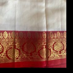 Combo of 2 Red Georgette Plain Saree With Golden Foil Border Floral Print Sarees, Floral Prints, White Sari, Kutch Work Designs, Party Sarees, Plain Saree, Elegant Saree, Red Art, Mirror Work
