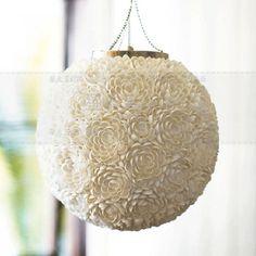Nordic Ikea Pendant Lamp Creative Handmade Shell Hanging Lamp Round White Bedroom Hallway Pendant Lights