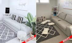 Interior stylist Sarah Dheays, from Western Australia, has lifted the lid on the reality behind her picture-perfect snaps of her house - and it's not always as they seem. Interior Stylist, Western Australia, Living Spaces, To Go, Stylists, Kids Rugs, Couch, Pictures, Furniture