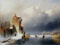 Charles Leickert (1816-1907) - Ice View With Skaters.jpg