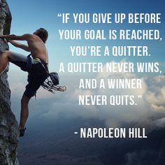 Napoleon Hill Think And Grow Rich Quote one quitting http://selfmadesuccess.com